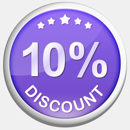 Colorful Button with Discount Value