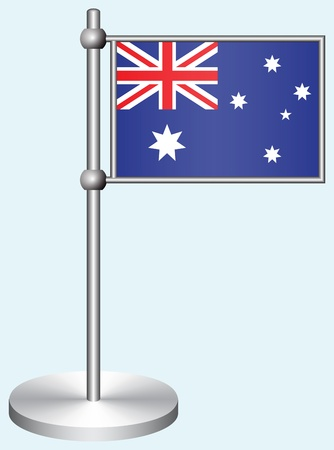 Australia Flag with Metal Stand Illustration