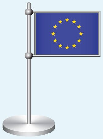 European Union Flag with Metal Stand