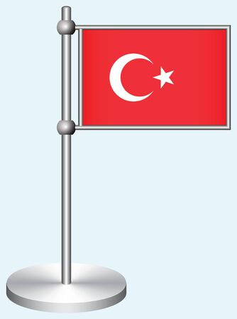 Turkey Flag with Metal Stand