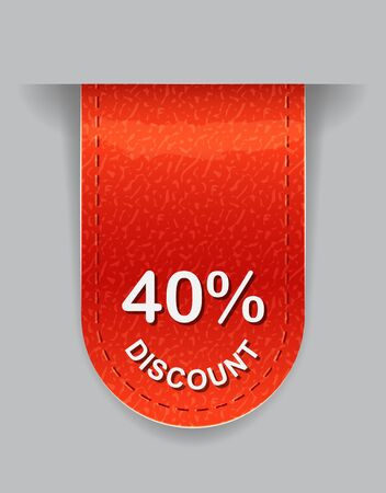 Glossy Label with Discount Value