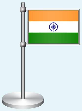 India Flag with Metal Stand