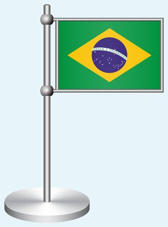 Brazil Flag with Metal Stand