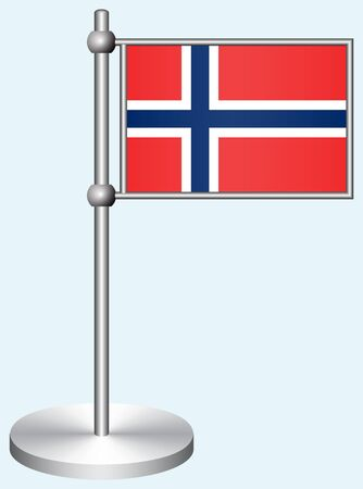 Norway Flag with Metal Stand