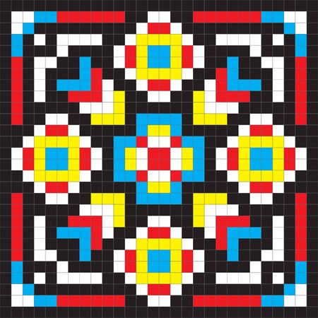 simple seamless colorful abstract pattern