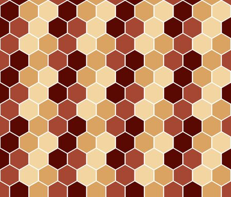 simple seamless hexagonal colorful abstract pattern