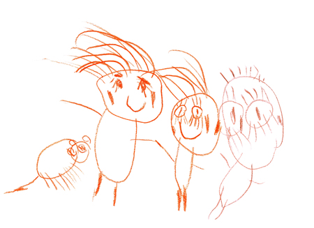 My Family Picture (Child Drawing)