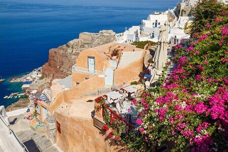 landscape and architecture in island Santorini, Greece