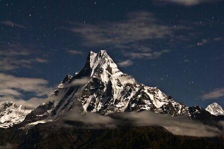 Macchapucchare Peak at night,Nepal