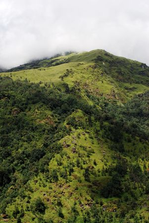 mountains landscape of nepal photo