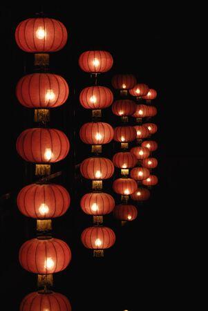 folkways: red lanterns of china Stock Photo