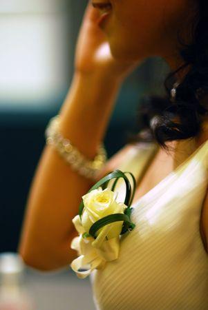 corsage of bride vertical version