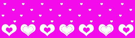 abstract hearts patterns with purple background Stock Photo - 6223834