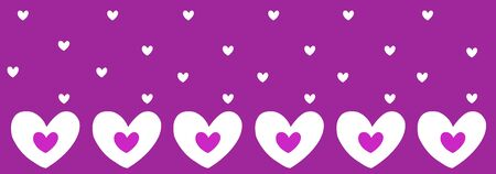abstract hearts patterns with purple background Stock Photo - 6231391