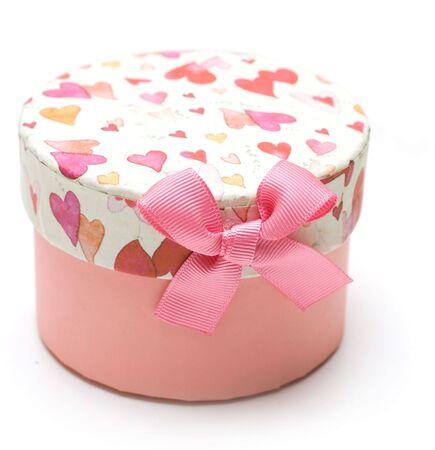 beautiful purple gift box in white background Stock Photo - 6223841