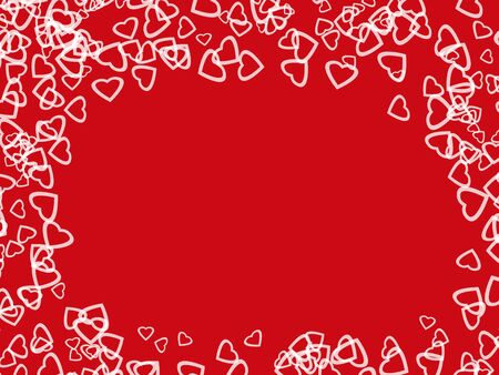 abstract white hearts shape in red background Stock Photo - 6389217