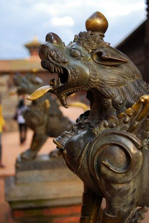 folkways: ancient sculpture of durbar square, nepal