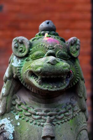 godliness: Ancient sculpture of nepal Stock Photo