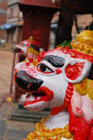 godliness: Colorful ancient sculpture of nepal
