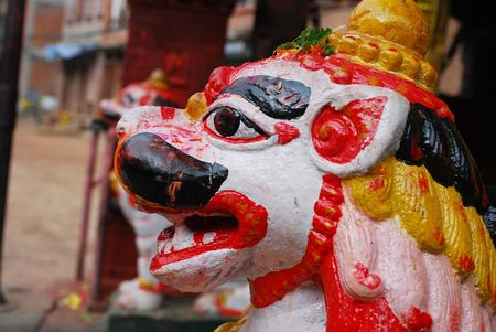 folkways: Colorful ancient sculpture of nepal
