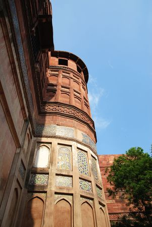 Architecture in Agra fort of India photo