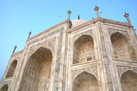 love dome: Taj Mahal building at agra,Uttar Pradesh,india Stock Photo