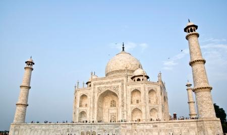 pradesh: Taj Mahal building at agra,Uttar Pradesh,india Stock Photo