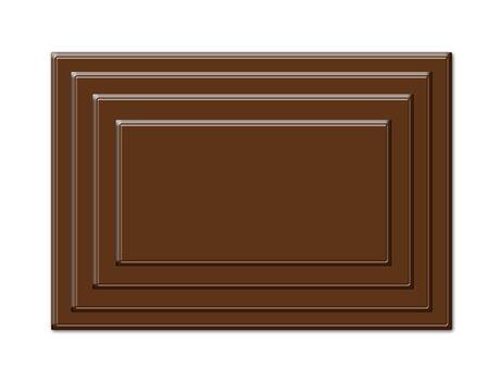 Cartoon cookies chocolate frame isolated on white photo