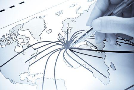 negocios internacionales: De Europa al mundo Foto de archivo