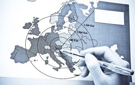 Vienna - On Europe map photo