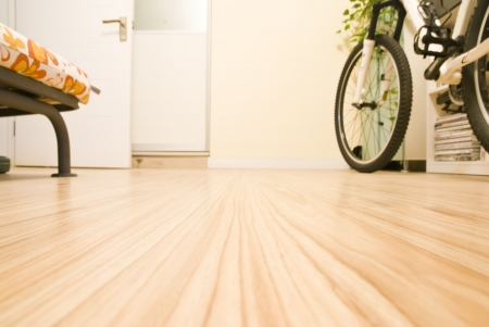 Abstract Home Interior - Domestic Room with a Bicycle Stock Photo
