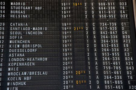 Arrival Departure Board- Flight schedule