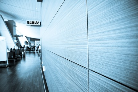 Airport Departures terminal   Stock Photo