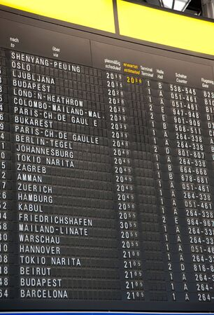 ArrivalDeparture Board- Flight schedule