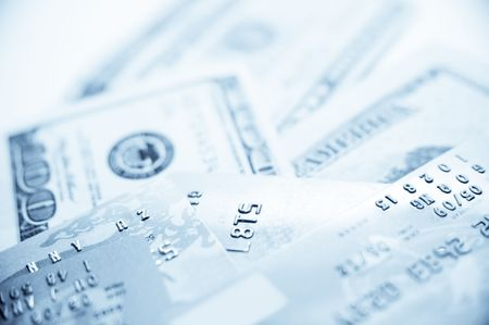 Credit Cards With US Dollar Stock Photo - 7775301