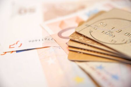 Credit Cards With Euros Stock Photo - 7746045