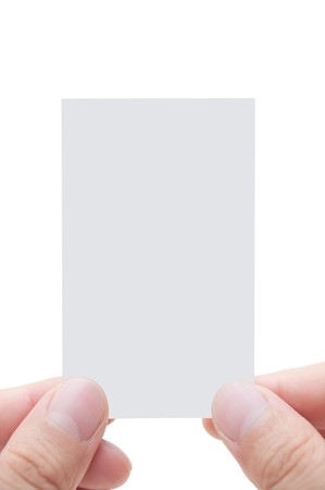 Blank Business Card In Hand Stock Photo - 7746067