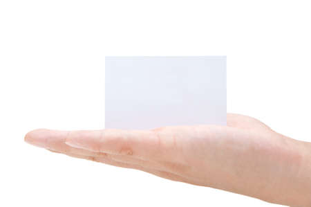 Blank Business Card In Hand photo