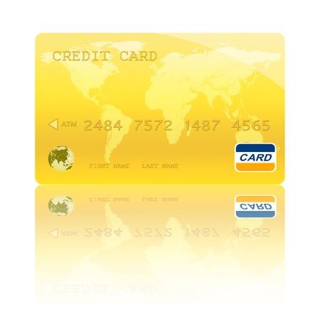 Golden Credit Card Digital Illustration,Highly Detailed  illustration