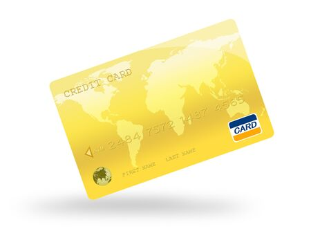 debit card: Credit Card Digital Illustration,Highly Detailed  Stock Photo
