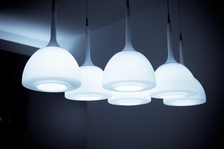 Beautiful chandelier isolated  Stock Photo