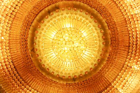 Crystal Chandelier Close-up Stock Photo