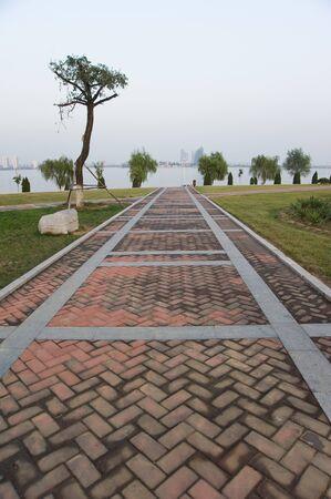 Garden Walk on path   photo