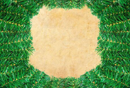 Christmas green framework with Pine needles isolated photo