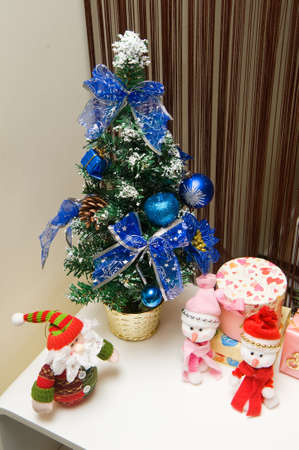 christmas interior setting decoration in home   photo