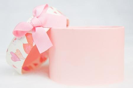Beautiful pink box isolated on white background Stock Photo - 8348815