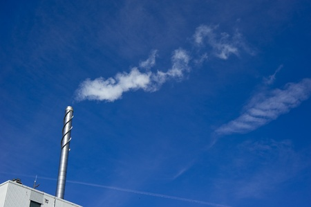 Factory chimney - Modern Industry Causing Global Warming  photo