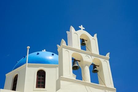 Church in Oia, Santorini island of Greece  Stock Photo - 9114597