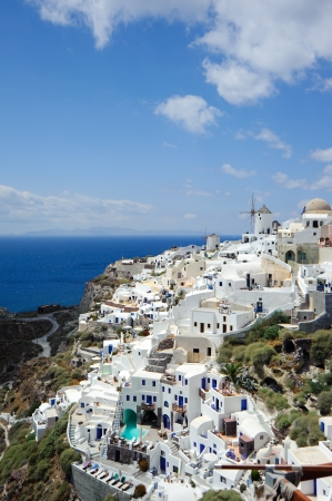 Wonderful view of Oia village Santorini island, Greece