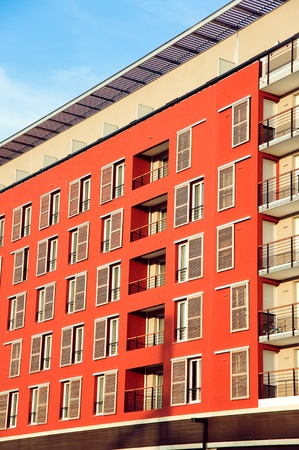 Part of Modern Residential Architecture   Stock Photo